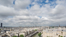 Paris skyline with Eiffel Tower in Paris, Time Lapse