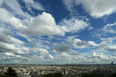 Paris skyline fom the Sacre-Cœur Basilica Stock Photography