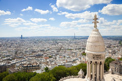 Paris skyline. Great panoramic royalty free stock photo