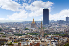 Paris skyline Invalides golden dome France Royalty Free Stock Photography