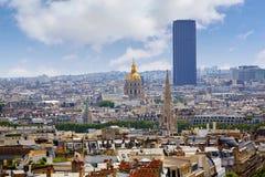 Paris skyline Invalides golden dome France Royalty Free Stock Images
