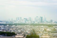 Paris skyline with La Defense in the Stock Image