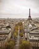 Paris-Skyline mit Eiffelturm Lizenzfreie Stockfotografie