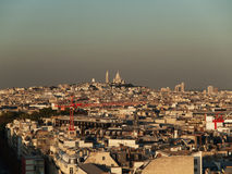 Paris Skyline, Montmartre at Sunset Royalty Free Stock Images
