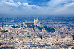 Paris skyline and Sacre Coeur Royalty Free Stock Photography