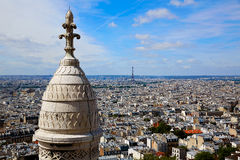 Paris skyline and Sacre Coeur Basilique Stock Images