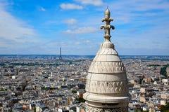 Paris skyline and Sacre Coeur Basilique Royalty Free Stock Photography