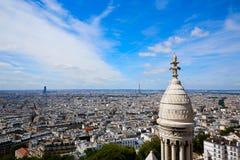 Paris skyline and Sacre Coeur Basilique Royalty Free Stock Image