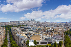 Paris skyline and sacre coeur cathedral France Stock Photo