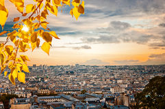 Paris skyline from the Sacre Coeur Royalty Free Stock Photos
