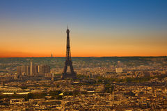 Paris skyline at sunset Royalty Free Stock Photography