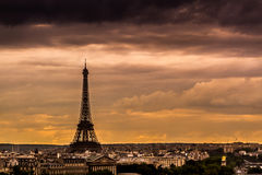 Paris Skyline at Sunset Stock Image