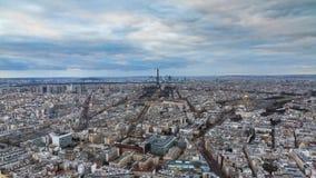 Paris-Skyline timelapse stock video footage