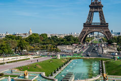 Paris, skyline with tour Eiffel Stock Photos