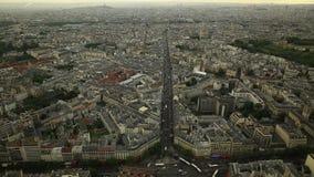 Paris skyline view stock footage