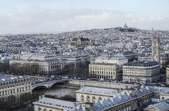Paris. Skyline with the view to Monmartre hill and Sacre de Coeur Stock Photos