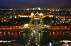 Paris-Skyline vom Eiffelturm Lizenzfreie Stockbilder