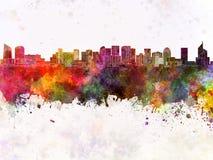Paris skyline in watercolor Royalty Free Stock Photo
