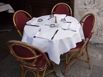 Paris small outdoor cafe Royalty Free Stock Image