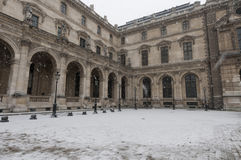 Paris While Snowing Royalty Free Stock Images