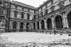 Paris While Snowing Stock Image
