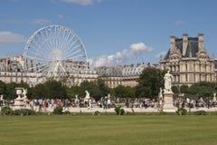 paris sommartid arkivbilder