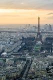 Paris-Sonnenuntergang Stockfoto