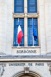 Paris - Sorbonne University Entrance. One of the oldest University of the world, founded in 12th century royalty free stock photo