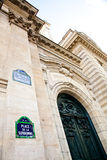 Paris - Sorbonne University Entrance. One of the oldest University of the world, founded in 12th century Stock Image