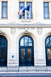 Paris - Sorbonne University Entrance. One of the oldest University of the world, founded in 12th century Royalty Free Stock Image