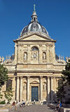Paris - Sorbonne University. PARIS, FRANCE - JUNE 11, 2014: Sorbonne University in Latin Quarters, Paris. Name is derived from College de Sorbonne, founded by Royalty Free Stock Image