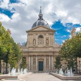 Paris, the Sorbonne university. Paris, France, the Sorbonne university, public research school in France royalty free stock photography
