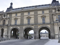 Paris, sortie auguste de la cour 18,2013-Louvre Photos stock