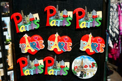 Paris Souvenirs Magnets Eiffel Tower Royalty Free Stock Photos