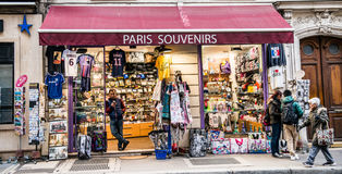 Paris souvenirs. Sell in street in France stock photos