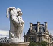 Paris - Spartacus - Tuileries garden. Paris - Le Serment de Spartacus by Barrias (1869) THE OATH OF SPARTACUS - Tuileries garden Royalty Free Stock Photos