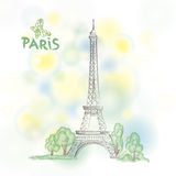 Paris spring background.  Eifel tower. Travel France poster. Stock Photography