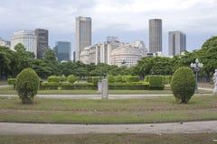Paris Squair i Rio de Janeiro, sikt på mitten av staden Arkivbild