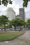 Paris Squair i Rio de Janeiro, sikt på mitten av staden Royaltyfria Bilder
