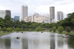 Paris Squair i Rio de Janeiro, sikt på mitten av staden Arkivfoton