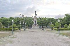 Paris Squair i Rio de Janeiro, sikt på mitten av staden Arkivbilder