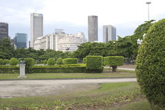 Paris Squair in Rio de Janeiro, view at the center of the city. Royalty Free Stock Image