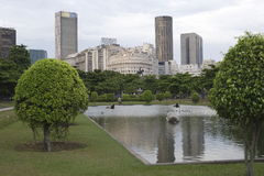 Paris Squair in Rio de Janeiro, view at the center of the city. Royalty Free Stock Photo