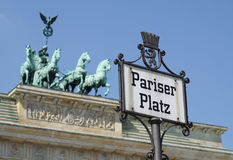 Paris Square with Brandenburg Gate, Berlin, Germany Royalty Free Stock Photos
