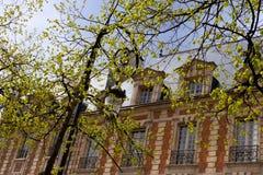 Paris ställedes Vosges Royaltyfri Fotografi