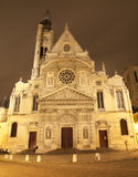 Paris - St. Etienne-du-Mont church in night Royalty Free Stock Image