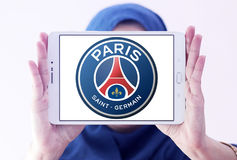 Paris St Germain, logotipo do clube do futebol de PSG Foto de Stock Royalty Free