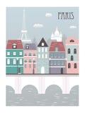 Paris stad. Arkivbild