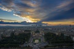 Paris stad av förälskelse, horisont Royaltyfri Foto