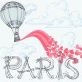 Paris stad av förälskelse Royaltyfria Bilder